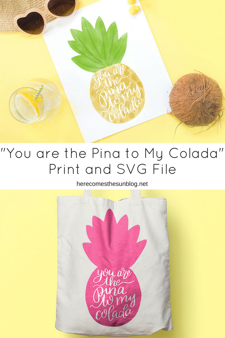 pineapple print and svg file