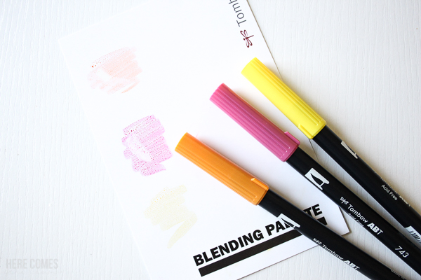 how to blend with tombow dual brush pens