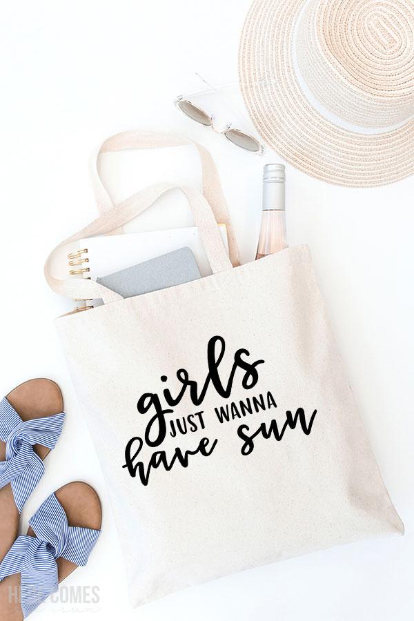 sunshine cut file on bag