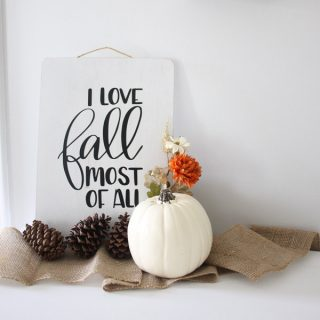 How to Make a Hand Lettered Fall Sign