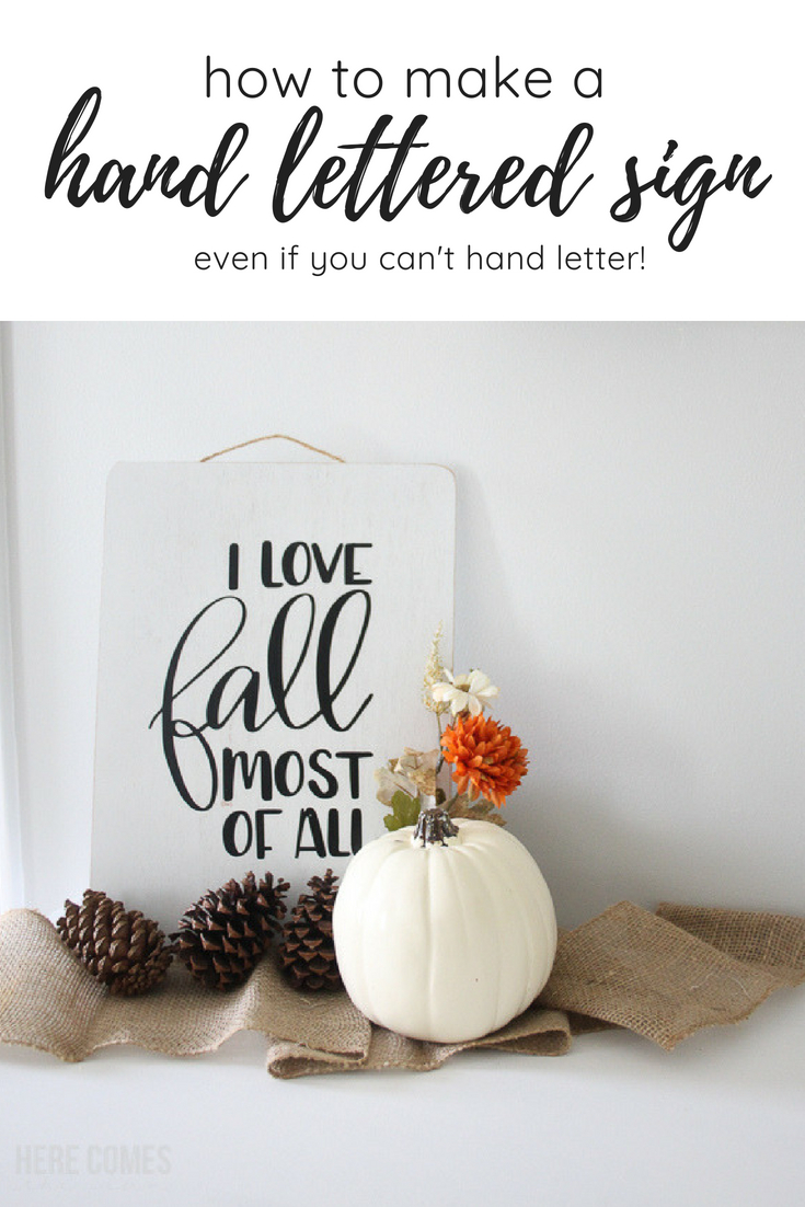 hand lettered fall sign pinnable image