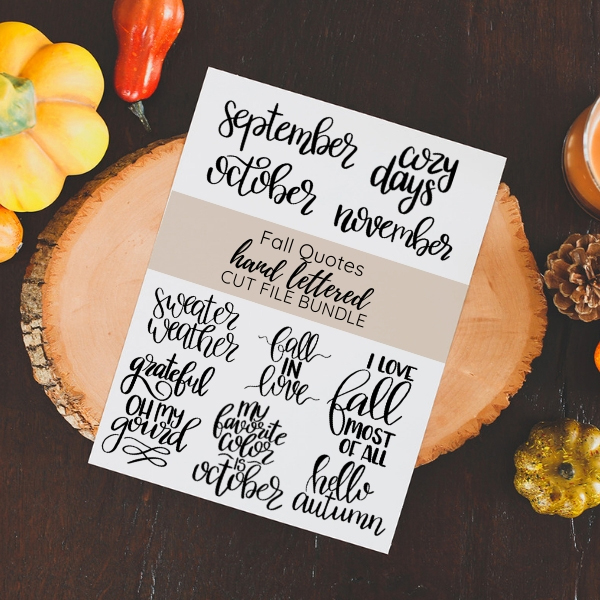 fall quotes cut file bundle