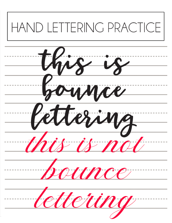 draw bounce lettering