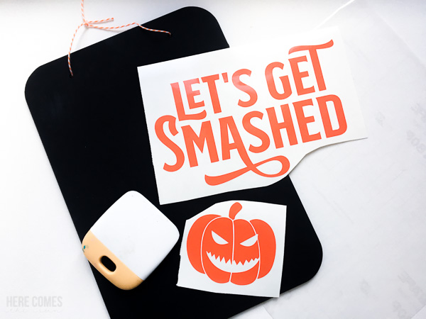 chalkboard halloween sign supplies