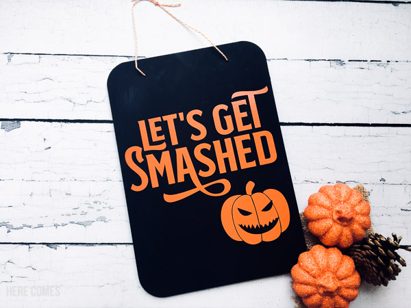 chalkboard halloween sign