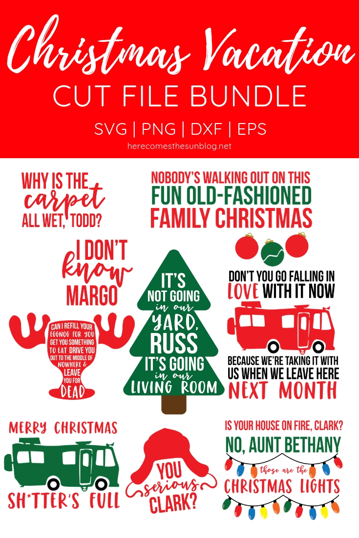 christmas cut file bundle