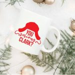 christmas vacation cut file on mug