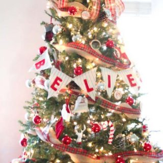 rustic christmas tree decorations