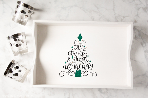 holiday serving tray