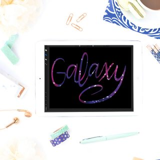 How to Create Galaxy Brush Lettering on the iPad Pro