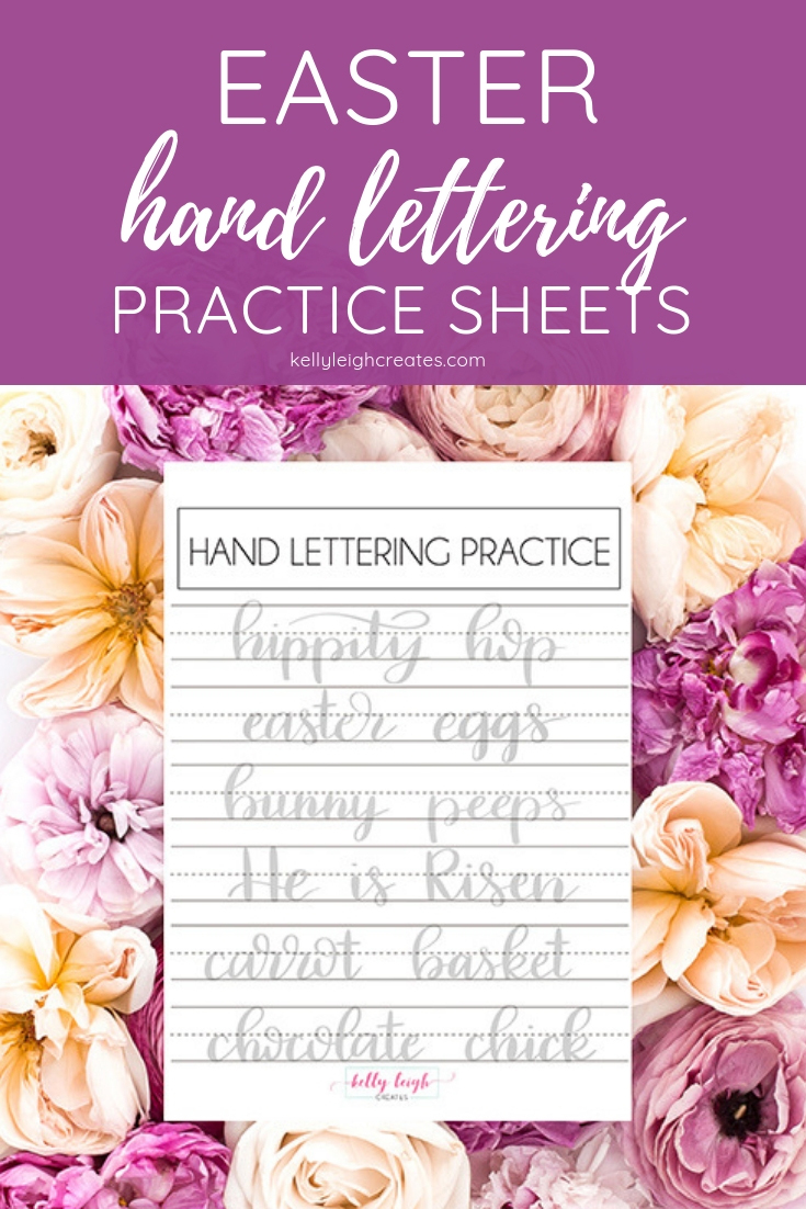 easter hand lettering practice sheets