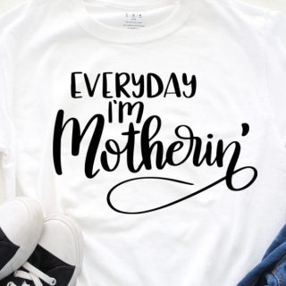 funny mom quote hand lettered cut file