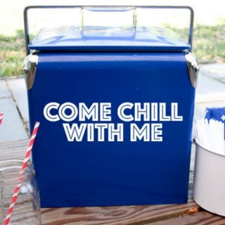 blue cooler with drink cooler cut files