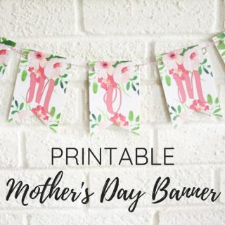 printable mother's day banner for brunch