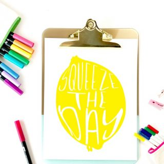 lemonade printable on clipboard