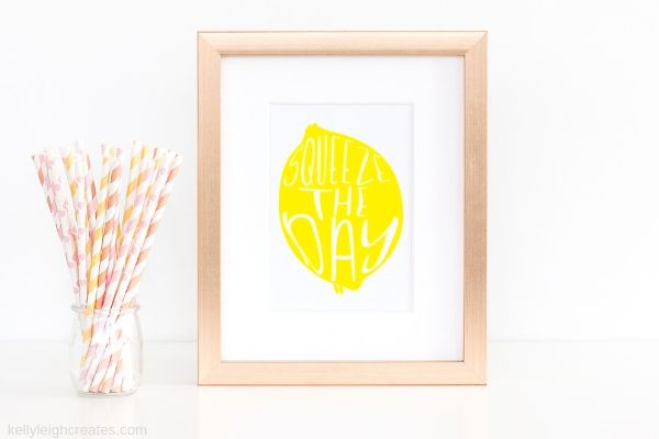lemonade printable in picture frame
