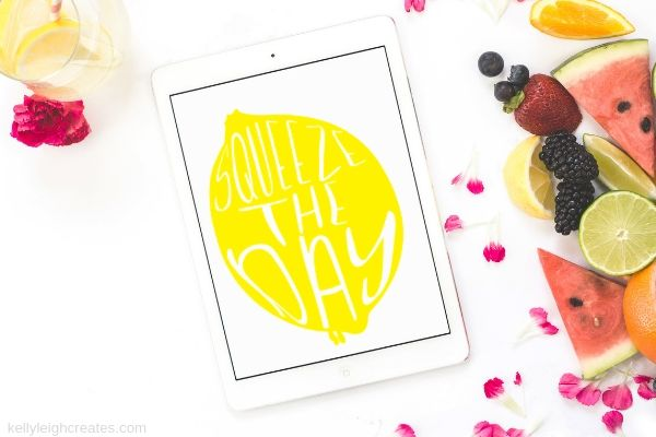 lemonade printable shown on tablet