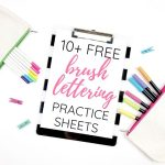brush lettering practice sheets