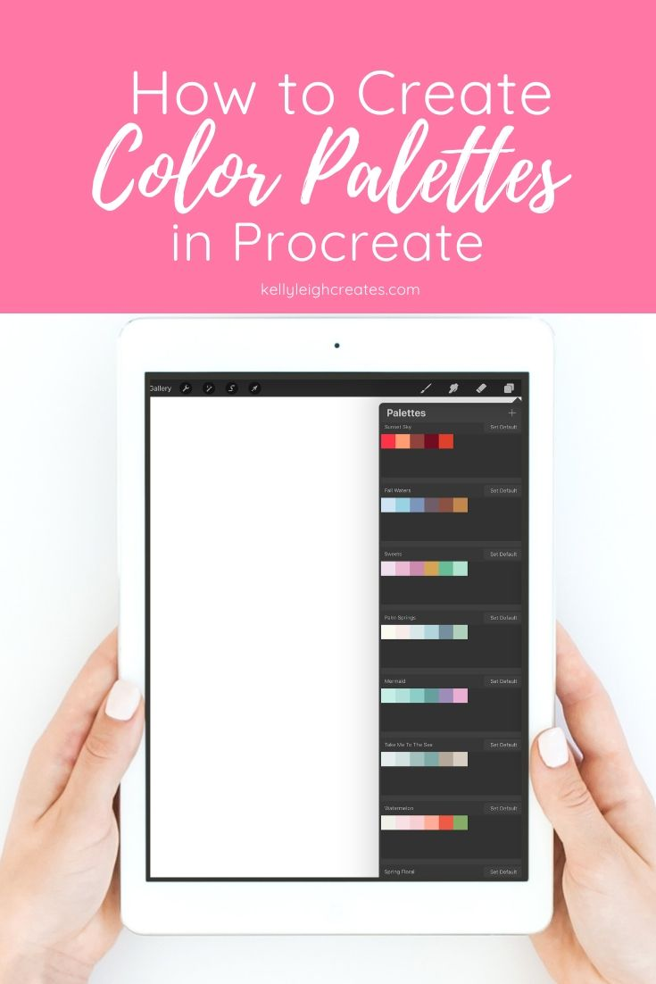create color palettes in procreate