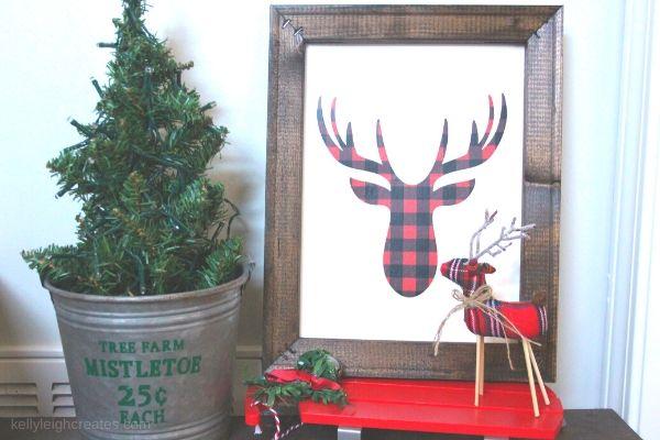 buffalo check christmas reverse canvas