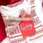christmas pajamas gift tags