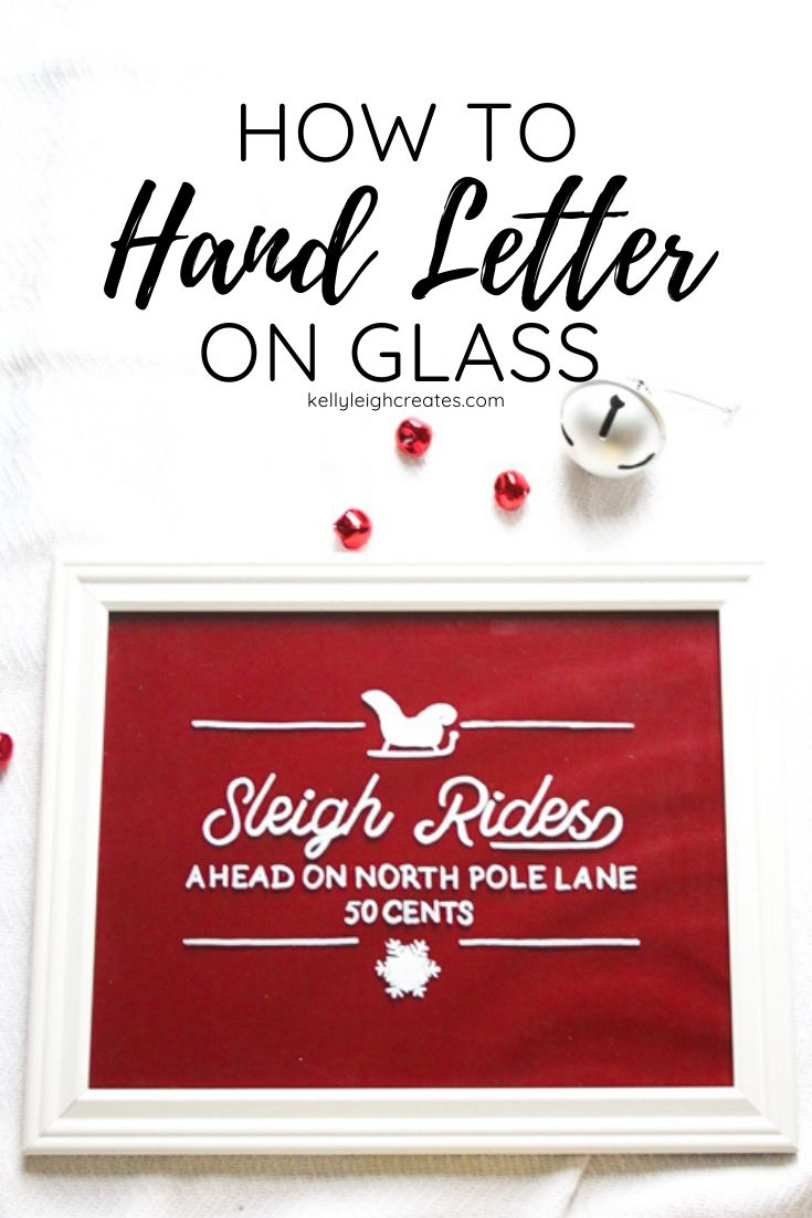 hand letter on glass