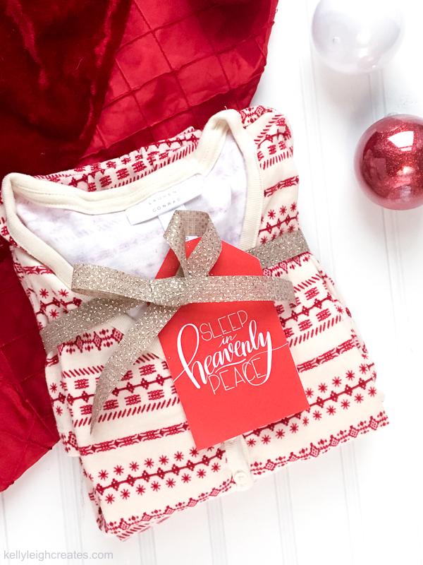 christmas pajamas gift tags