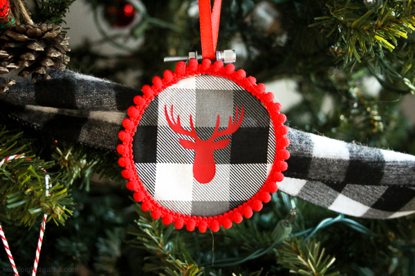 buffalo check christmas ornaments