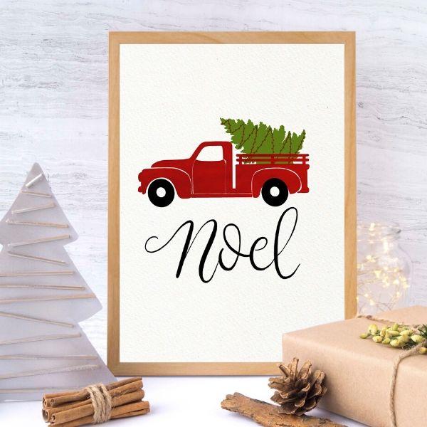 farmhouse Christmas truck printables