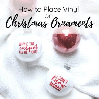 vinyl on christmas ornaments