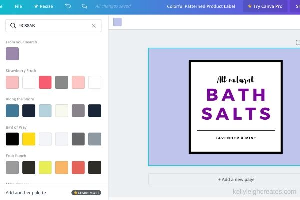 make printables with canva