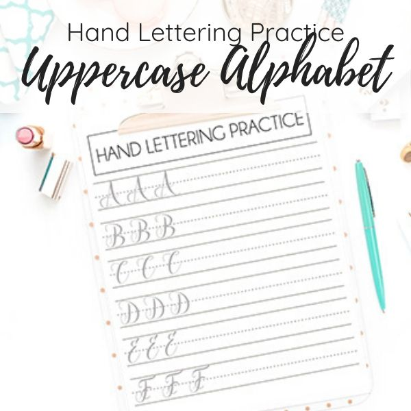 hand lettering practice sheets uppercase alphabet