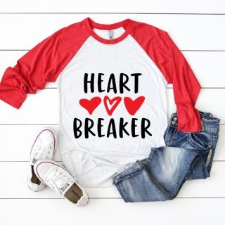 heart breaker valentine cut file