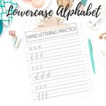 lowercase hand lettering practice sheets