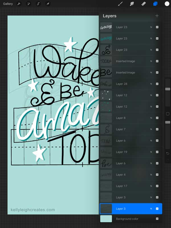 create hand lettering layout