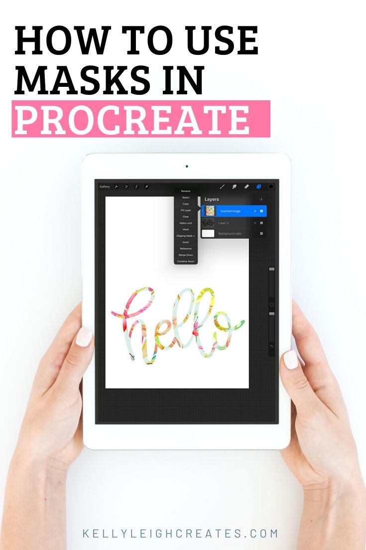 how to use masks in procreate