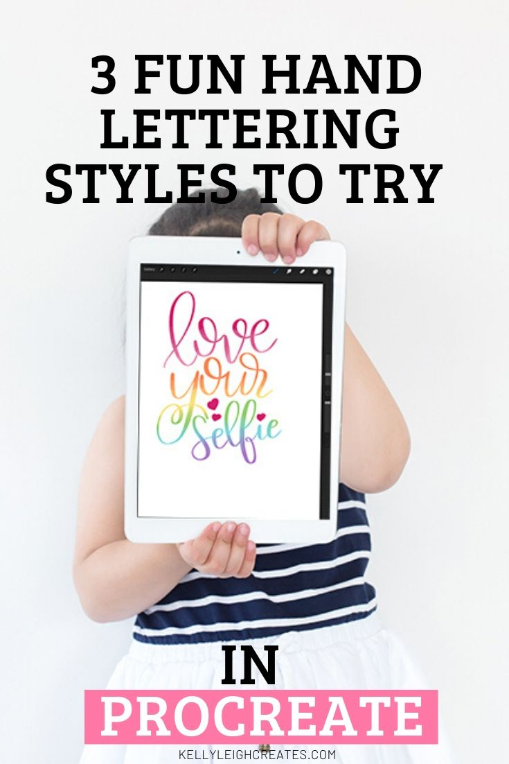 hand lettering styles in procreate