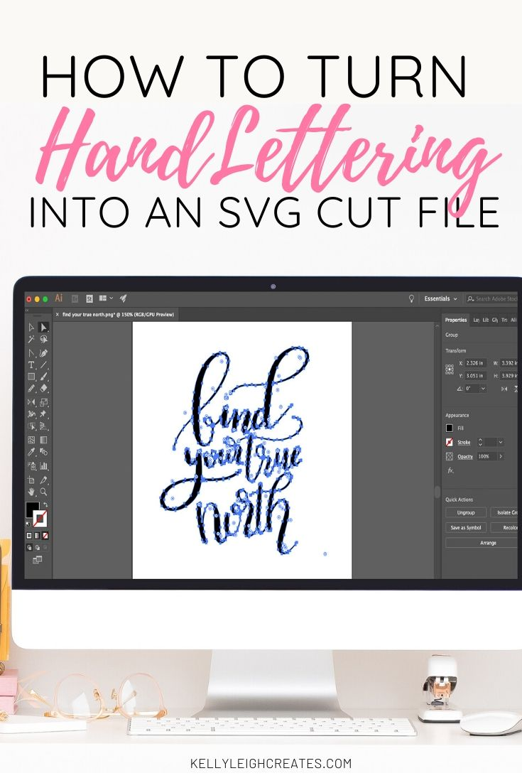 hand lettering into svg