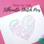 use silhouette sketch pens