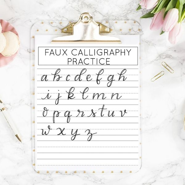 Create Faux Calligraphy In 3 Easy Steps Kelly Leigh Creates