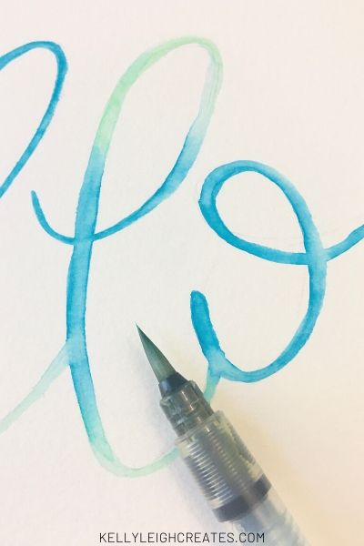 watercolor lettering with brush pens