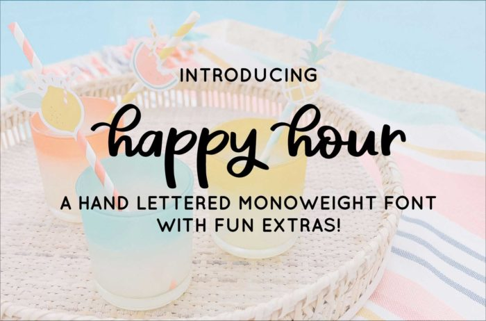 happy hour font for sale