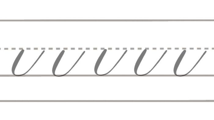 basic brush lettering strokes underturn