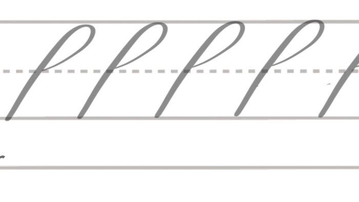 basic brush lettering strokes ascender loop