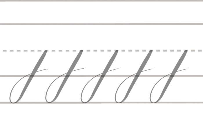 basic brush lettering strokes descender loop
