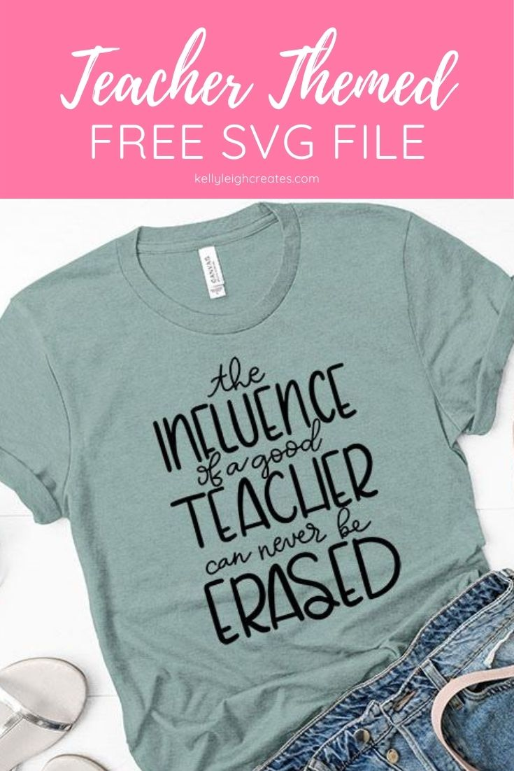 free teacher cut file on shirt