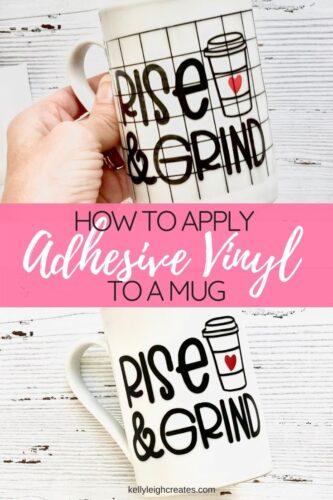 how to apply vinyl to a mug