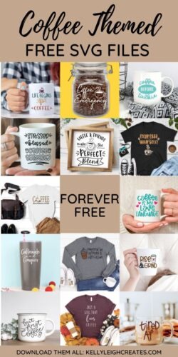 coffee themed svg cut files