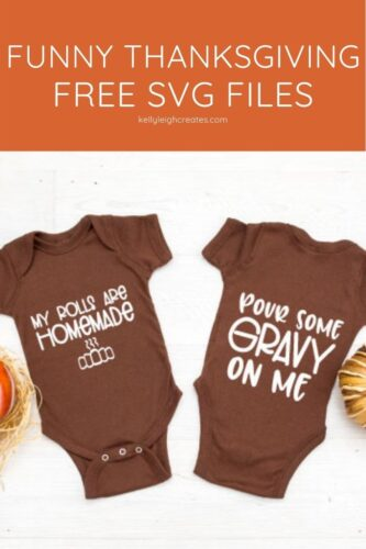 funny thanksgiving cut file on onesie