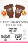 funny thanksgiving svg file on onesie